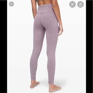 Lululemon morning light HR tight 28 NWT